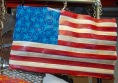 "Wind Flag, Sheet Metal, Paint, H 21"" x W 30"""