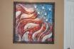 "Celebration, Wood Steel, Acrylic Paint, H 37""x W 37"""