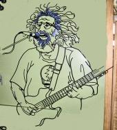 """Jerry Garcia, Steel Rod, H 42"""" x W 35"""""""