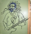 Jerry Garcia, Steel Rod, H 42″ x W 35″