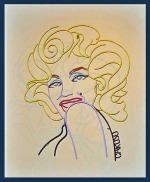 "Marilyn, Steel Rod, Acrylic Paint, H 23"" x W 19"""