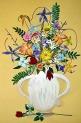 """Stacy's Flowers, Honda Body, Acrylic Paint, H 42"""" x W 26"""""""